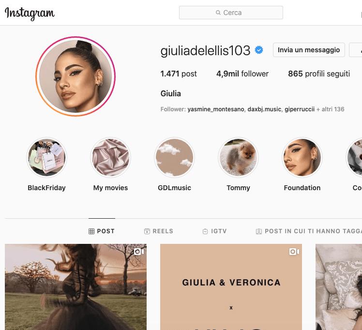 Giulia de Lellis Instagram: 5 milioni di followers!