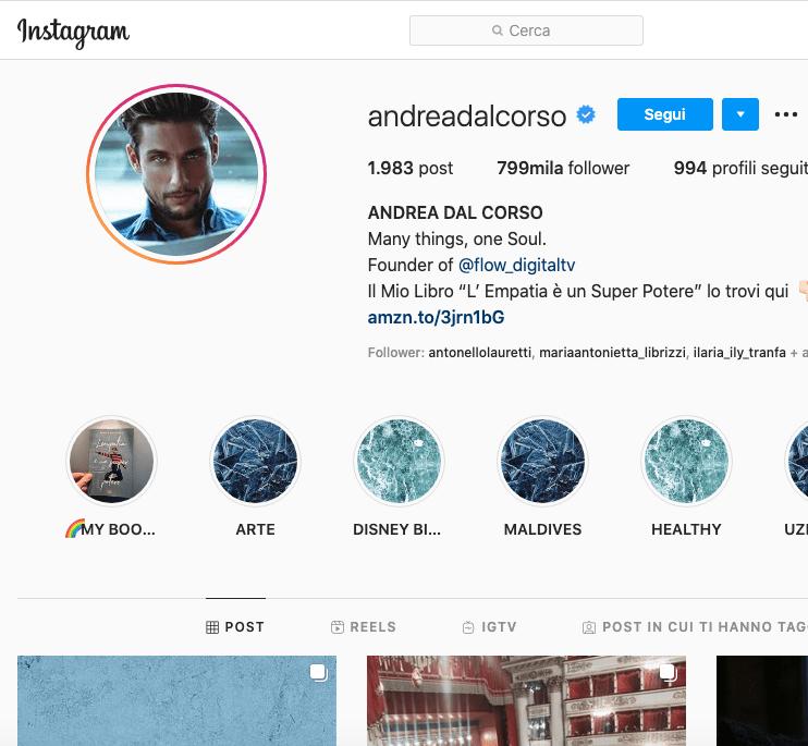 Andrea Dal Corso Instagram, 3 segreti
