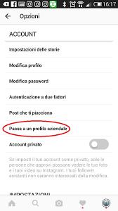 come si mette il profilo aziendale su instagram