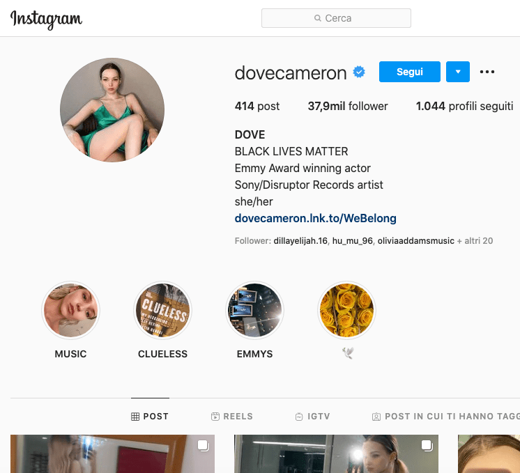 Dove Cameron Instagram: scopriamo il profilo!
