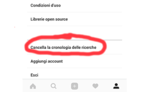 come cancellare cronologia ricerche instagram